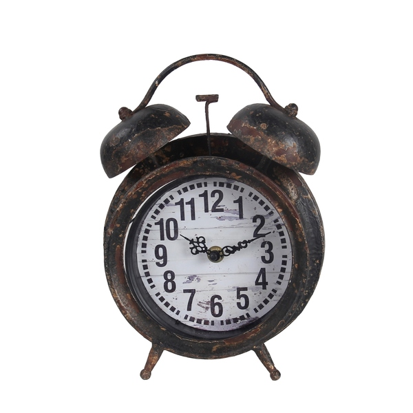 Privilege Antique Black Iron Table Clock