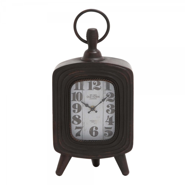 Woodland Imports 18106 Antique Metal Table Clock | ATG Stores