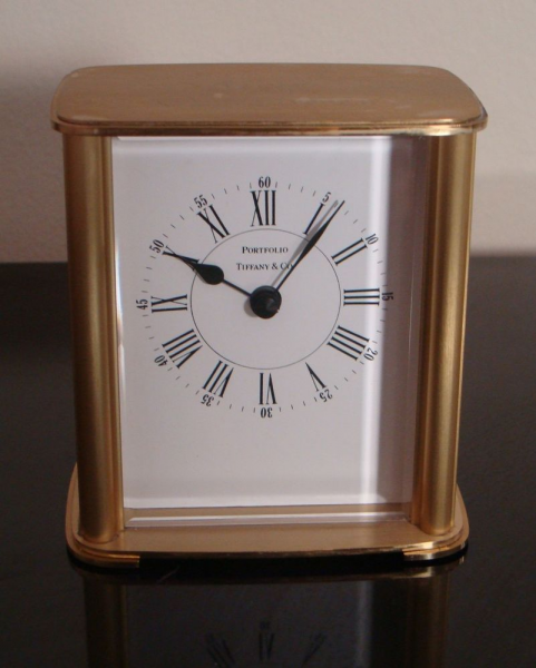 Vintage Tiffany Co Solid Brass Portfolio Desk Mantel Table Clock from ...
