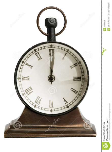 Antique Bronze Table Clock Royalty Free Stock Image - Image: 22850826