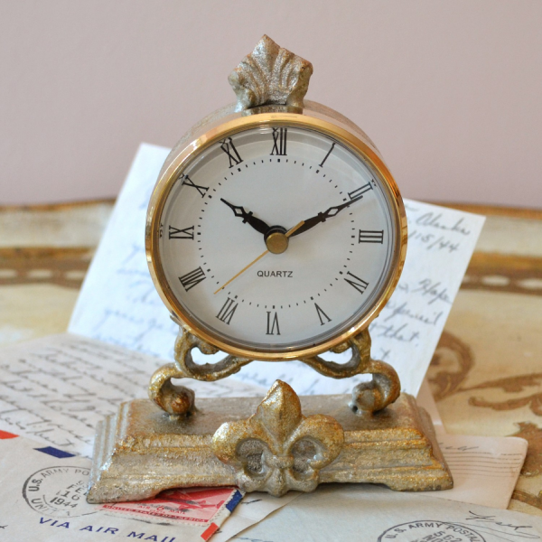 Home > Antique Style Silver Table Clock