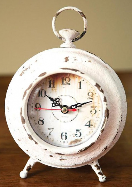 Pocket Watch Table Clock Cream - Under $100 Clocks