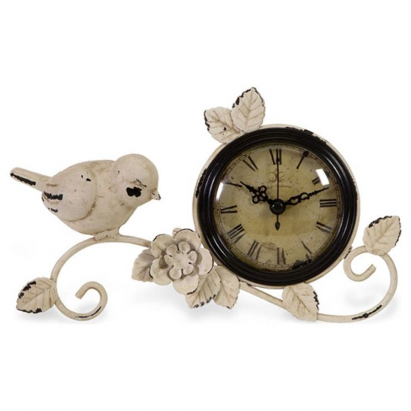 Tabletop Clock with Bird. | Cottage Style | Pinterest