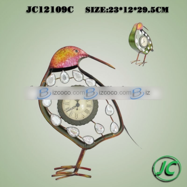 Bird design antique metal table clock for home decor Price : US $6.00 ...