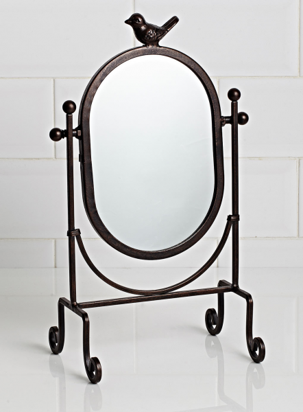 Bronze Vintage Curiosity oval bird top mirror - Ideal home show - Home ...