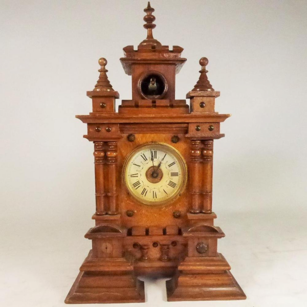 ANTIQUE EDWARDIAN GERMAN CARVED WOOD MANTEL CLOCK WITH CUCKOO | eBay