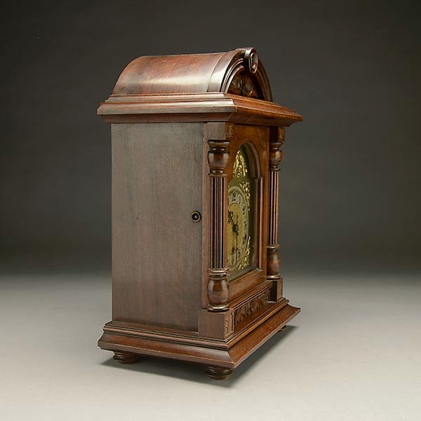 German Wood Cased Mantle Clock : Lot 122