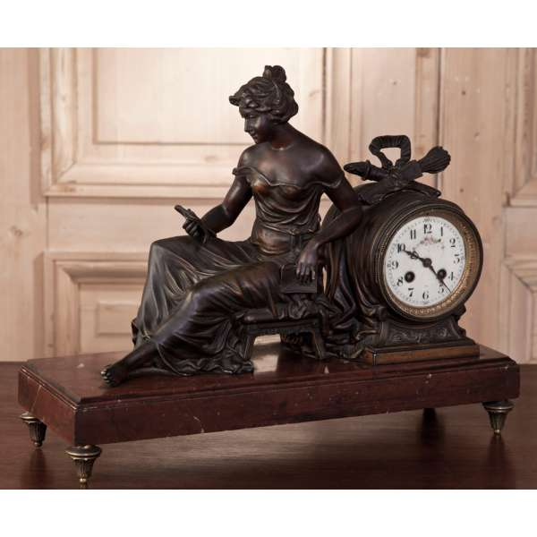 ... > Antique Mantel/Wall Clocks > Antique French Louis XVI Mantel Clock