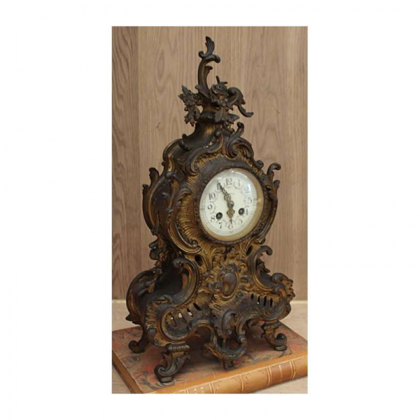Antique French Louis XV Bronze Mantel Clock - Inessa Stewart's ...