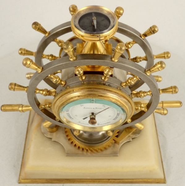 Antique French industrial nautical desk clock | Ian Burton Antique ...