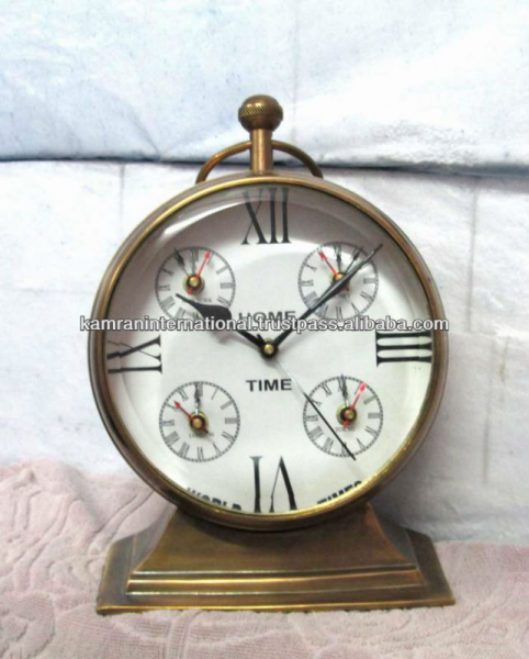 Nautical world time table clock, desktop world time clock, antique ...