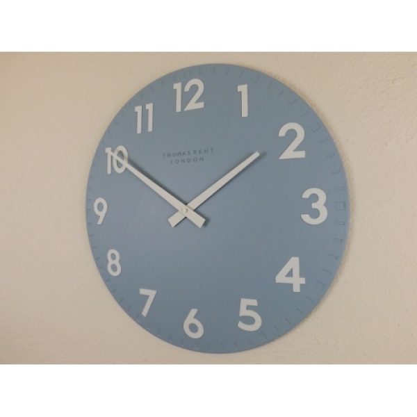 Thomas Kent 20 diameter Camden Sea Blue wall clock. Item no. 894