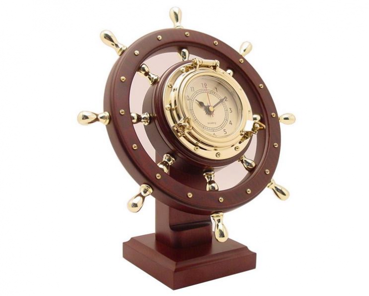 Nautical Ship Wheel Desk Clock (GL020b-C)