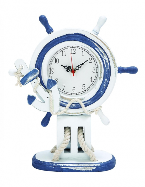 Benzara Nautical Ships Wheel Table Clock | For the Home | Pinterest