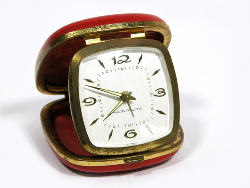 Items similar to Vintage Red Westclox Travel Alarm Clock on Etsy