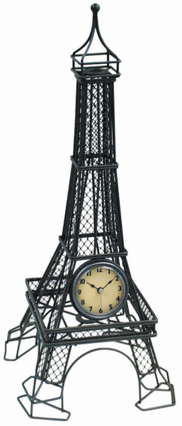 ... Wall Clocks > All Clocks > 18 Metal Wire Eiffel Tower Table Clock