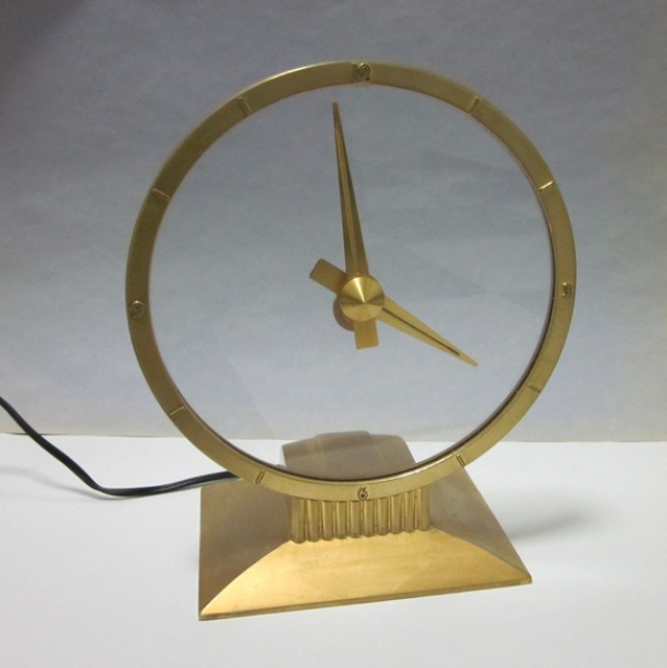 Jefferson Golden Hour Mystery Clock - Mid Century Design Electric ...