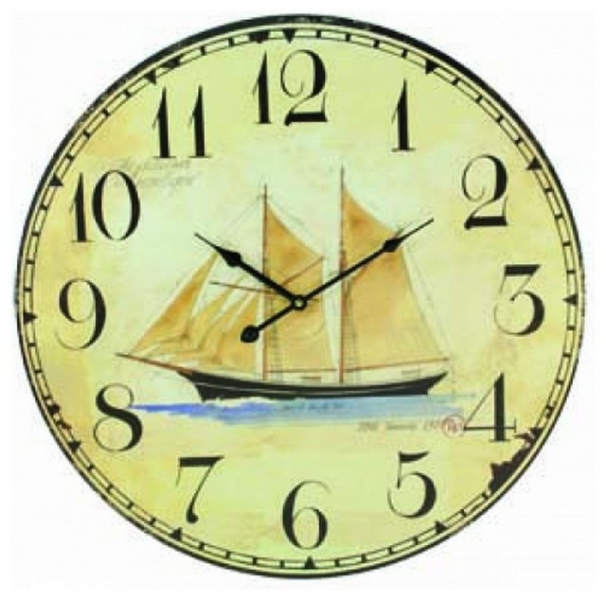 ... Nautical Wall Clock - Nautical Wall Hangin beach-style-desk-and-mantel