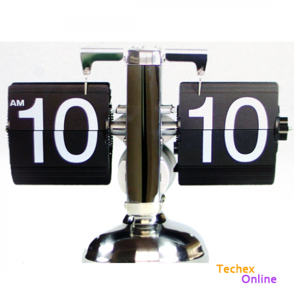 ... Digital Auto Flip Single Stand Metal Desk Table Clock Vintage | eBay