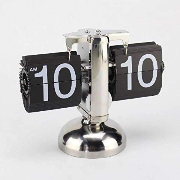 ... Single Stand Metal Desk Table Clock: Cool Desk Clocks - TOP-CLOCKS.COM