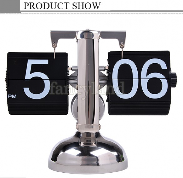 2014 Retro Flip Down Clock Internal Retro Modern Metal Scale Digital ...