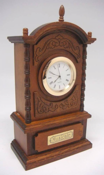 Tall Table Quartz Battery Operated Clock Westminster Chimes Item ...