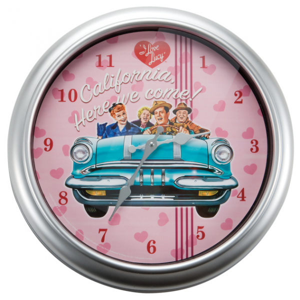 "Love Lucy ""California Here We Come"" Wall Clock"