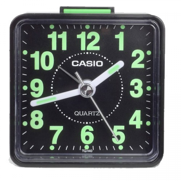 New Casio TQ140 Travel Alarm Clock Table Top Desk Clock Casio Quartz ...