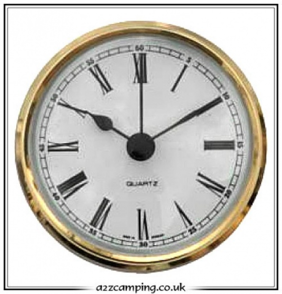 72mm Round Battery Operated Caravan Clock - a2zCamping.co.uk