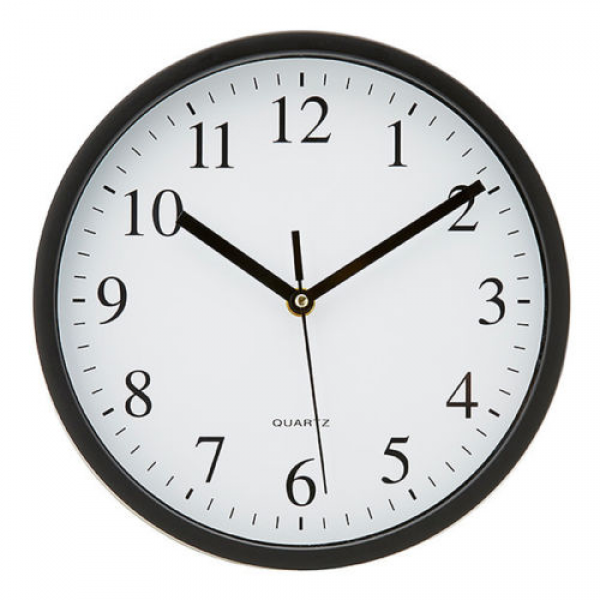 ... about NEW Wall Clock Round Plastic Black Colour Battery Operated 25cm