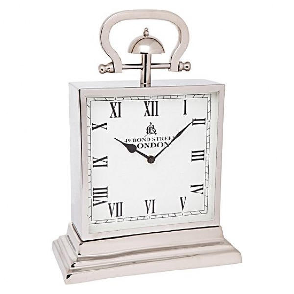 Bond Street Table Clock, Silver by Cafe Lighting | Zanui