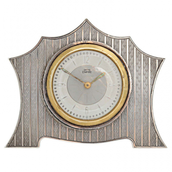 Art DecoSterling Silver Table Clock at 1stdibs