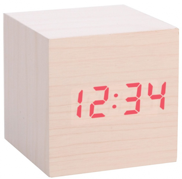 Neat idea! Clap-On Cube Alarm Clock, Light Wood - casa.com