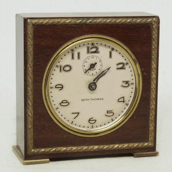 Small wooden Seth Thomas table top clock: Architectural Salvage Online ...