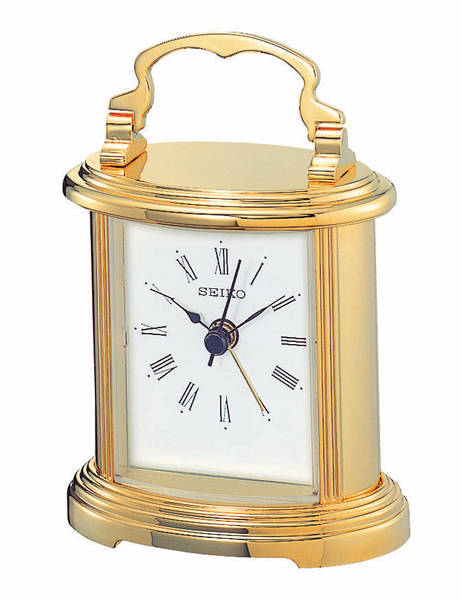 ... Clocks > Seiko Clock - Executive Petite Gold-Tone Carriage Desk Clock