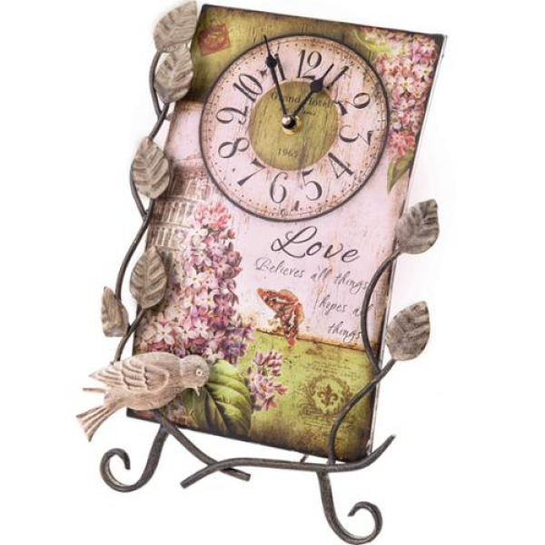 14 Flower Market Love Table Top Clock with Easel - Walmart.com