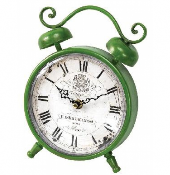 Flower Market Rise and Shine Green Clock Wall Art Wholesale