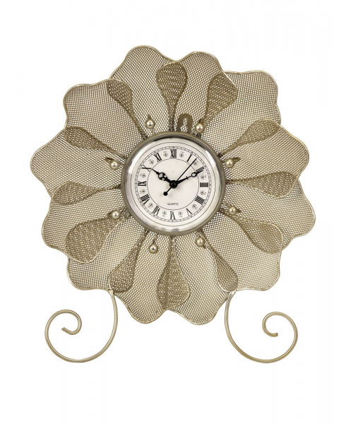 Transitional Utopia Flower Table Clock w/ Shell by IMAX Worldwide ...