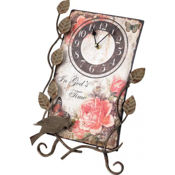 14 Religious Flower Market In God's Time Table Top Clock with Easel ...