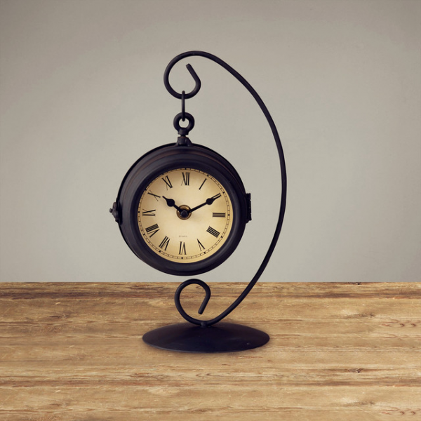 Classical Simple Design Black Table Clock Creative traditional-clocks