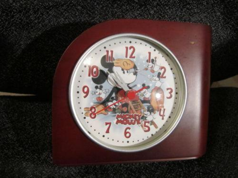 Mickey Mouse Desk Clock | eBay