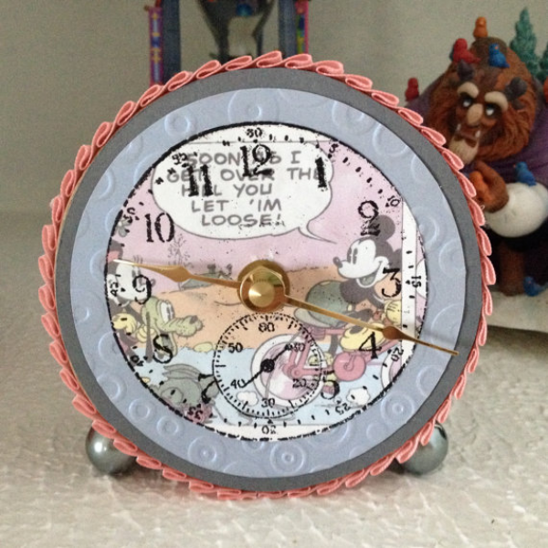 Mickey Mouse Theme Desk Clock by ThumbtacksAndPaper on Etsy