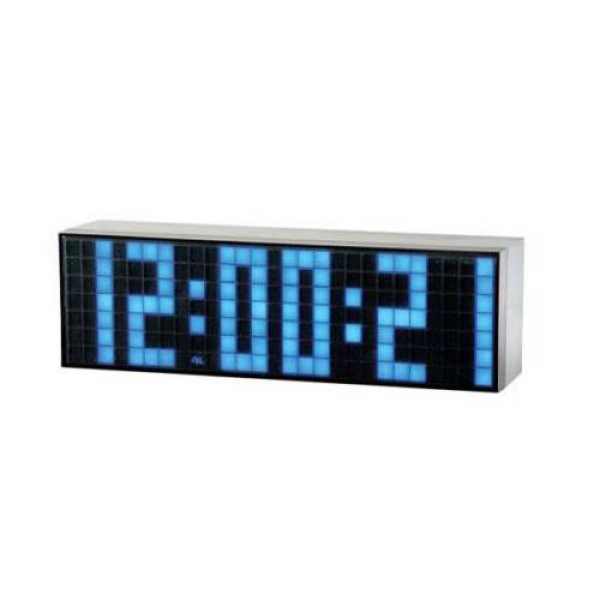 ... Portable Blue LED Clock with A Big Time Snooze Wall Desk Alarm Clock
