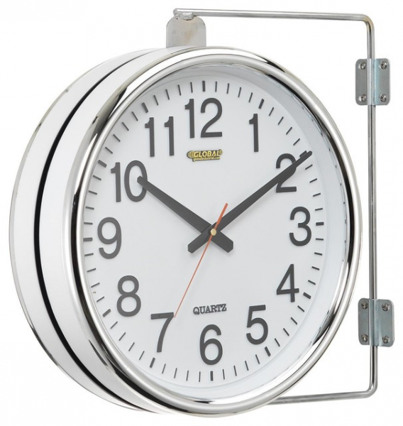 Wall Clock Double Sided Battery Operated - Contemporary - Wall Clocks ...