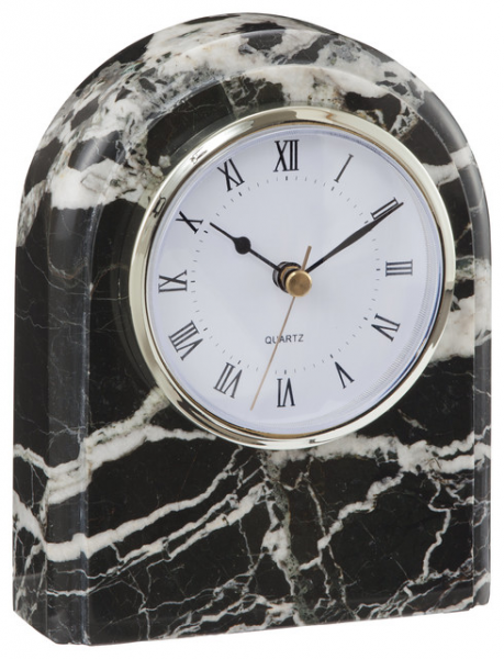 ... and Gold Marble Desk Clock, Black contemporary-desk-and-mantel-clocks