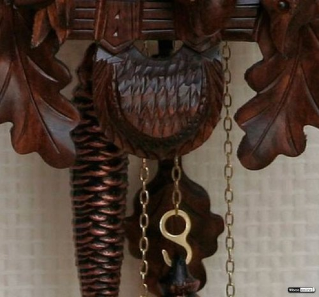 Cuckoo Clocks UK | German Cuckoo Clock 1-day-movement Carved-Style 23 ...