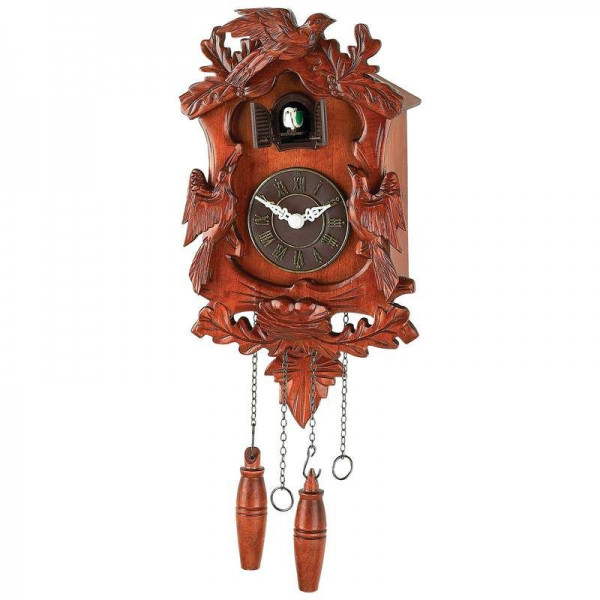 Kassel-Cuckoo-Clock-Wood-Accents-Moving-Bird-Electronic-Chime-w-Volume ...