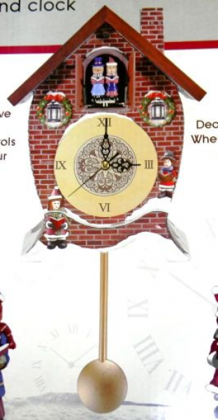 Details about Mark Feldstein Carolers Cuckoo Clock Hourly Christmas ...