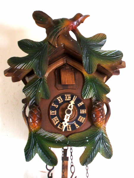 Traditional German 2 Weights Driven Carved Case Cuckoo Clock GWO 9H 6 ...