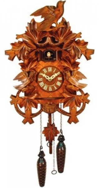 Carved Yellow Cuckoo Bird Cuckoo Clock - Traditional - Clocks - by ...